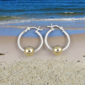 Cape Cod Earrings Medium with Gold Ball