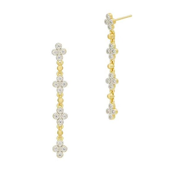 Freida Rothman Visionary Fusion Linear Drop Clover Earrings