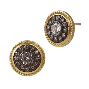 Freida Rothman Nautical Button Stud Earrings