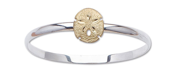 D'Amico Sterling Silver and 14K Gold Sand Dollar Bracelet