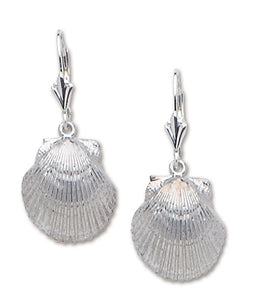 D'Amico Sterling Silver Scallop Dangle Earring