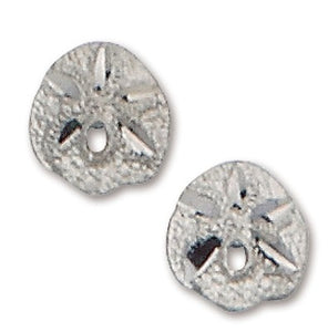 D'Amico Sterling Silver Small Sand Dollar Post Earrings