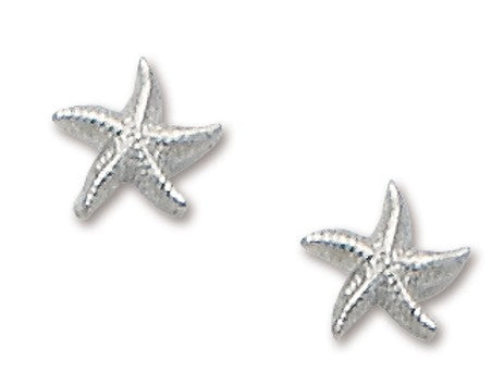 D'Amico Sterling Silver Tiny Starfish Post Earring