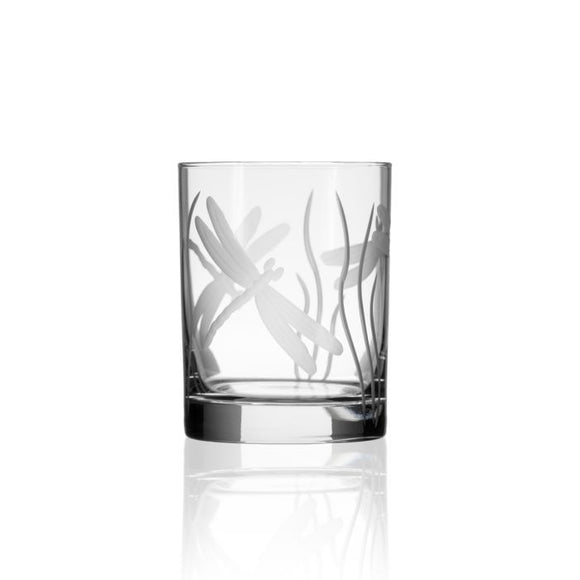 Rolf Dragonfly Double Old Fashioned Glass