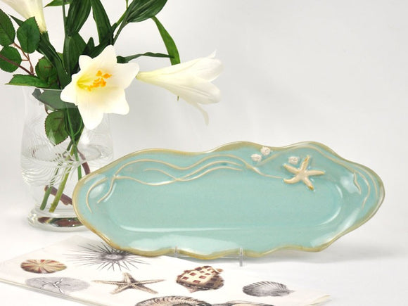 Mussels & More Nautical Tray Aqua