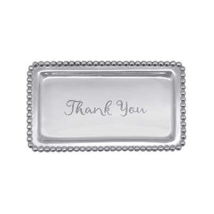 "Mariposa ""Thank You""  Beaded Statement Tray"