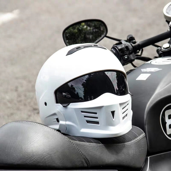 Face Helmet Removable Chin Change Shape Built-in Lens Removable Lining DOT Certified Street Bike Scooter Motorcycle Half Helmet