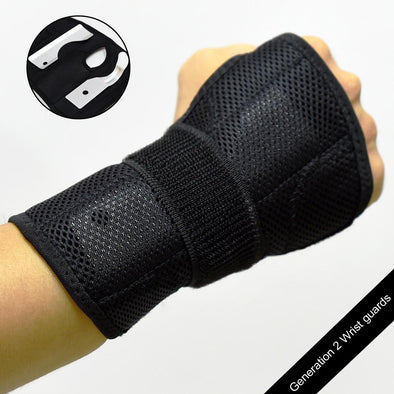 Generation 2 Wrist Guards with Palm Steel Pads. Protective Gear for Skateboarding/Longboarding/Roller Blading/Inline Skating.