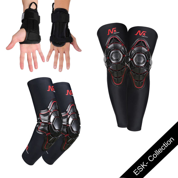 Ultra Slim ESK8-Collection Includes Knee Pads, Elbow Pads, and Wrist Guards