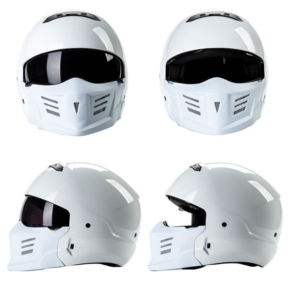 Face Helmet Removable Chin Change Shape Built-in Lens Removable Lining DOT Certified Street Bike Scooter Motorcycle Half Esk8 Helmet