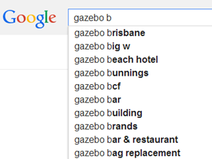 searching for gazebos