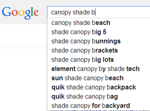 searching for canopy