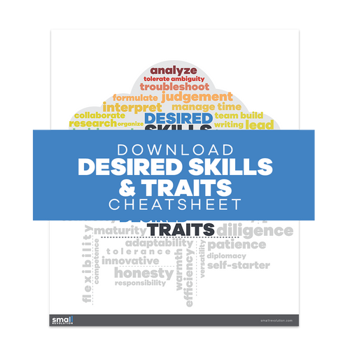 Desired Skills and Traits Cheatsheet