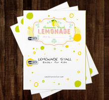 Load image into Gallery viewer, Lemonade Stand Binder