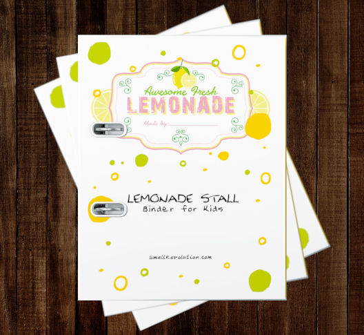 Lemonade Stand Binder