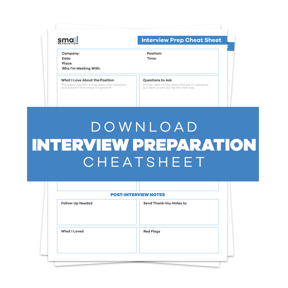 Interview Preparation Cheatsheet