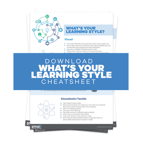 What's Your Learning Style Cheatsheet