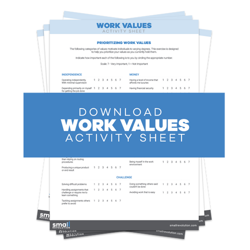 Work Values Activity Sheet