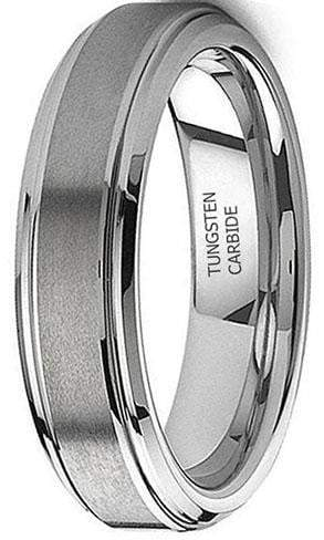 CERTIFIED 8mm Tungsten Carbide Rings Wedding Band Engagement Promise Brushed