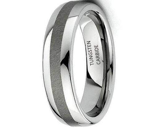CERTIFIED 6mm Rounded Edge Tungsten Wedding Band