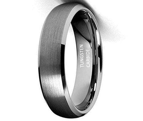 CERTIFIED 6mm Beveled Edge Tungsten Wedding Band