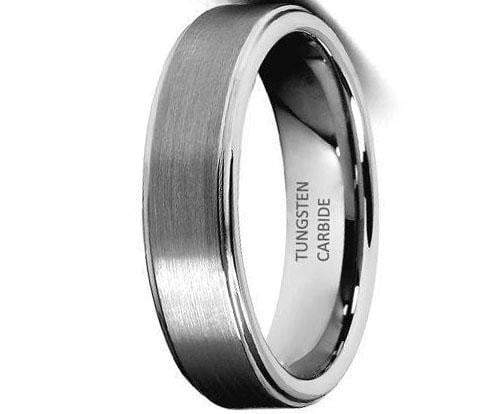 CERTIFIED 6mm Rounded Edge Men's Tungsten Wedding Band