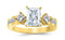 1.3 Ctw 14K White Gold Channel Set 3 Three Stone Princess Radiant Cut GIA Certified Diamond Engagement Ring (0.55 Ct I Color SI2 Clarity Center Stone)