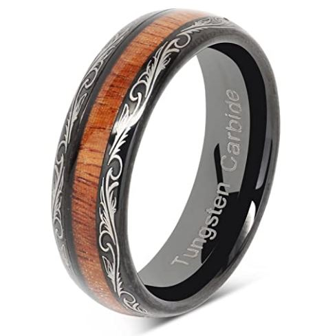 CERTIFIED Tungsten Wedding Band Ring Comfort Fit Flat Brushed