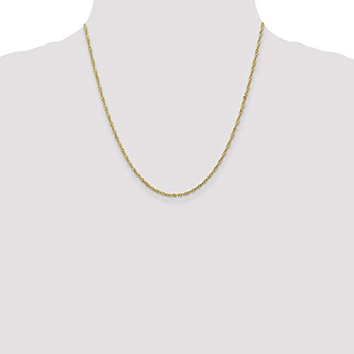 CERTIFIED   10K Yellow Gold 1.7 mm Sparkle Singapore