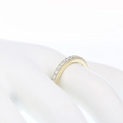 AGS CERTIFIED 1/4 cttw I1-I2 14K Milgrain Diamond Wedding Band Near Colorless (I-J)