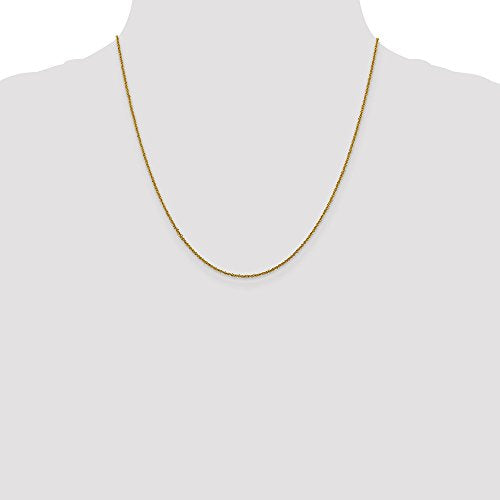 CERTIFIED 14K Yellow Gold 1 Mm Sparkle Singapore Chain