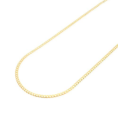 "CERTIFIED 14k Solid Yellow Gold 3mm Cuban Curb Chain Necklace 16"" 18"" 20"" 22"" 24"""