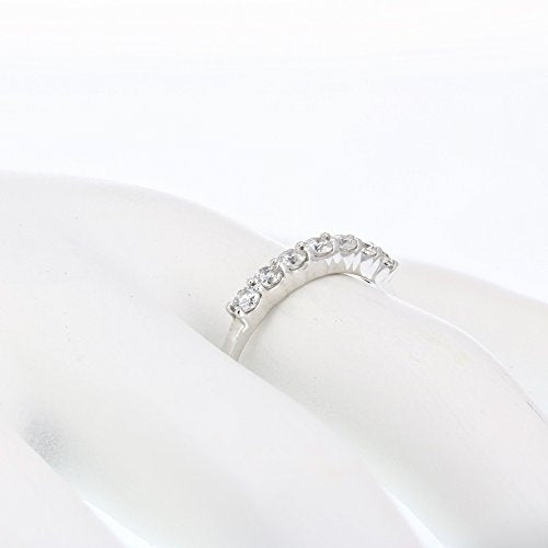 AGS CERTIFIED 1/2 cttw Certified 14K 7 Stone Diamond Wedding Band Near Colorless (H-I)