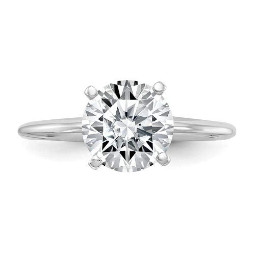 reamra 14k White Gold GIA Certified Diamond Solitaire Engagement Ring (F/SI1-0.18ct To 1.00Cttw)