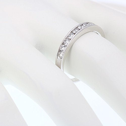 CERTIFIED 1/2 cttw 14K Gold Classic Diamond Wedding Band Channel Near Colorless