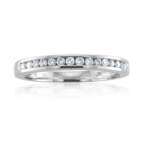 IGI | Certified 10K Gold Wedding Diamond Band Ring (0.21 carat)
