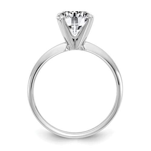 14k White Gold GIA Certified Diamond Solitaire Engagement Ring (H/VVS1-0.18ct To 1.00Cttw)