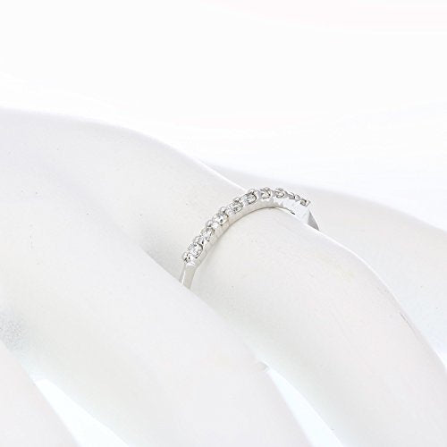 AGS Certified 1/5 cttw SI2-I1 Petite Diamond Wedding Band in 14K White Gold