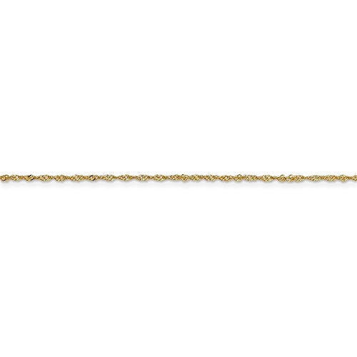 CERTIFIED   14K Yellow Gold 1 mm Light Singapore