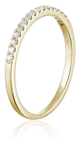 AGS CERTIFIED | 1/5 cttw Diamond Wedding Band Prong Set 14K Gold