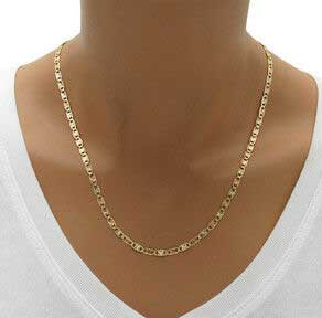 CERTIFIED 3mm 14k Tri Color Gold Valentino Star/Edge Diamond Cut Chain Necklace & Bracelet