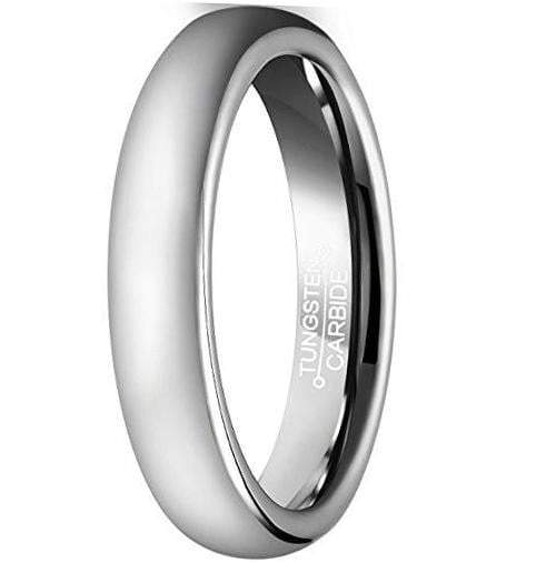 CERTIFIED 6MM Tungsten Carbide Wedding Band Polished Domed Metal Ring