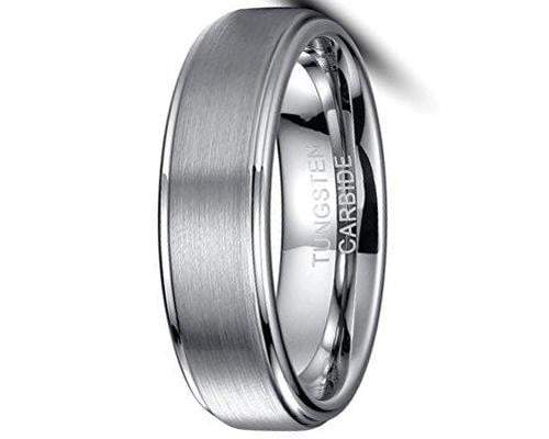 CERTIFIED 6mm Tungsten Carbide Ring Wedding Jewellery Band Matte Finish