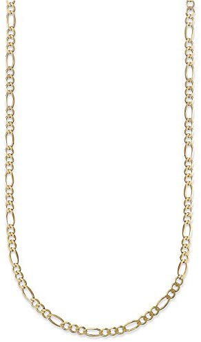 CERTIFIED 2.0mm 14K Gold Figaro/3+1 Link Chain Necklace