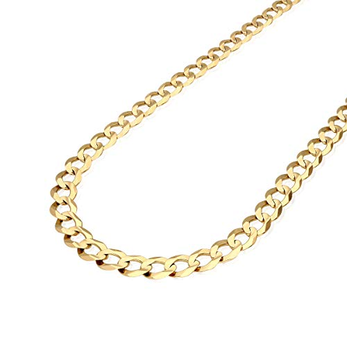 "CERTIFIED Solid 14k Yellow Gold 9.7mm Cuban Curb Chain Necklace 20"" 22"" 24"" 26"" 28"" 30"""