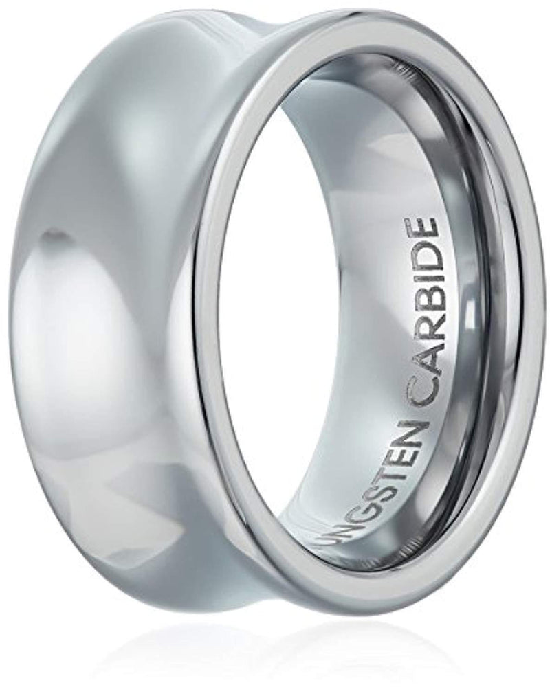CERTIFIED 9mm Men's Ladies Tungsten Concave Classic Wedding Band