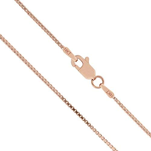 kim Honolulu Jewelry Company 14K Solid Rose Gold Box Chain Necklace