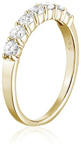 CERTIFIED 1/2 cttw Certified 14K 7 Stone Diamond Wedding Band Near Colorless (H-I)