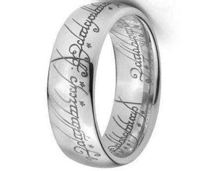 CERTIFIED 7mm Plain Elvish Script Tungsten Carbide Laser-etched