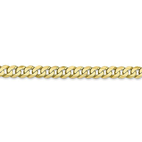 CERTIFIED   10k Yellow Gold 2.4mm Flat Beveled Curb Chain